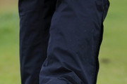 Justin Rose of England Nike shoes are pictured during a practice round prior to the 148th Open Championship held on the Dunluce Links at Royal Portrush Golf Club on July 17, 2019 in Portrush, United Kingdom.