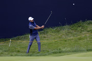 Jordan Spieth of the United States plays a shot during a practice round prior to the 148th Open Championship held on the Dunluce Links at Royal Portrush Golf Club on July 16, 2019 in Portrush, United Kingdom.