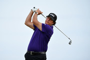 Phil Mickelson of the United States plays a shot during a practice round prior to the 148th Open Championship held on the Dunluce Links at Royal Portrush Golf Club on July 16, 2019 in Portrush, United Kingdom.