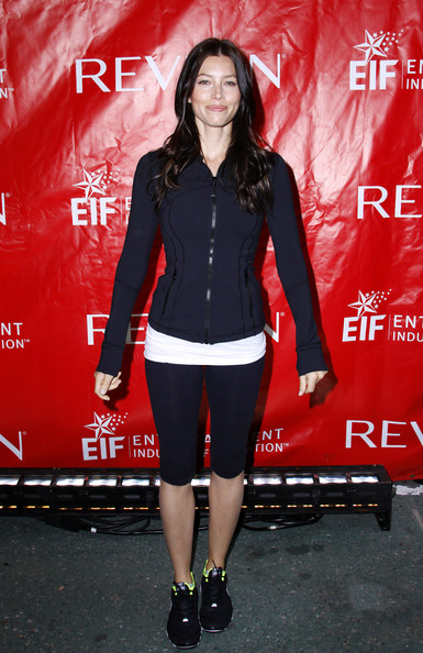 Jessica Biel attends the 14th Annual EIF Revlon Run/Walk for women in Times Square on April 30, 2011 in New York City.