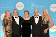 Mindy Grossman, Neil Grossman, Caryl M. Stern, Henry Schleiff and Elizabeth Smith attends the 14th Annual UNICEF Snowflake Ball 2018 on November 27, 2018 in New York City.