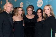 (L-R) Joe Walsh, Sheryl Crow, Caryl M. Stern, Olivia Harrison, and Majorie Walsh attend the 14th Annual UNICEF Snowflake Ball 2018 on November 27, 2018 in New York City.
