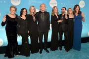 (L-R) Caryl M. Stern, Olivia Harrison, Majorie Walsh, Joe Walsh, Barbara Starkey, Sir Ringo Starr, Sheryl Crow, and Desiree Gruber attend the 14th Annual UNICEF Snowflake Ball 2018 on November 27, 2018 in New York City.