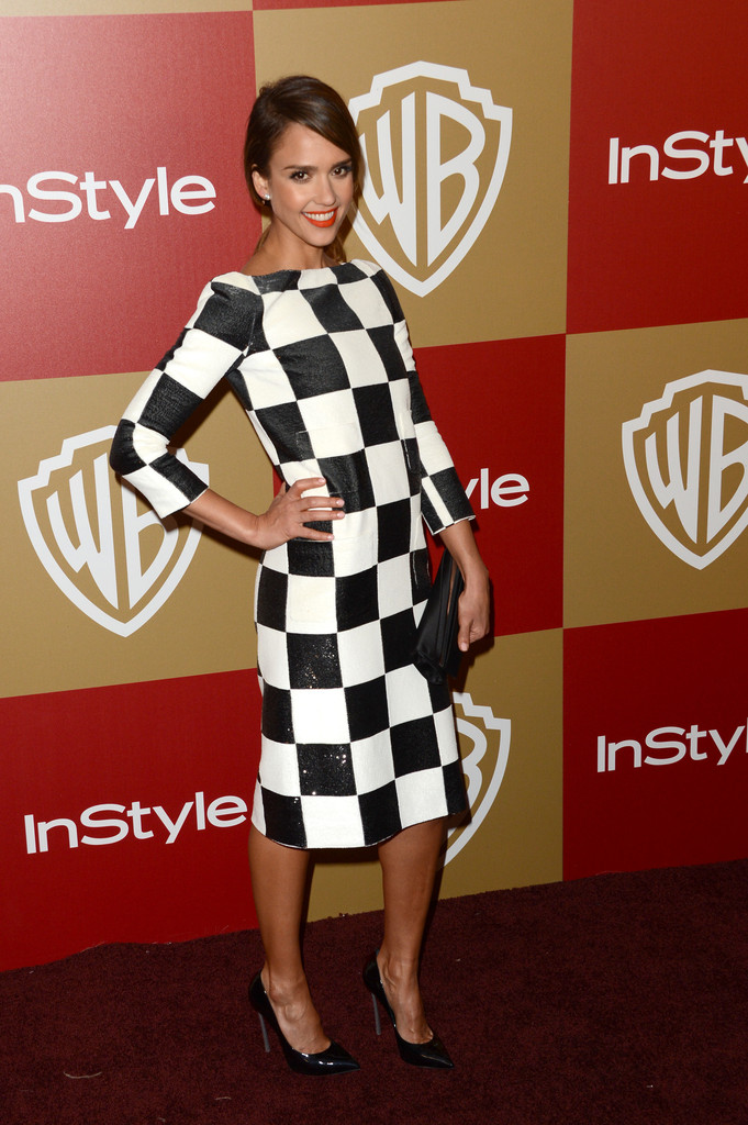 Actress Jessica Alba attends the 14th Annual Warner Bros. And InStyle Golden Globe Awards After Party held at the Oasis Courtyard at the Beverly Hilton Hotel on January 13, 2013 in Beverly Hills, California.