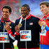 David Oliver Sergey Shubenkov Photos - (L-R) Silver medalist Ryan Wilson of the United States, gold medalist David Oliver of the United States and bronze medalist Sergey Shubenkov of Russia stand on the podium during the medal ceremony for the Men's 110 metres hurdlesduring Day Four of the 14th IAAF World Athletics Championships Moscow 2013 at Luzhniki Stadium on August 13, 2013 in Moscow, Russia. - IAAF World Athletics Championships Moscow: Day 4