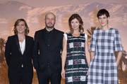 (L-R) Producer Helene Cases, score composer Evgueni Galperine, director Alix Delaporte and actress Clotilde Hesme at the photocall for the movie 'The Last Hammer Blow' during the 14th Marrakech International Film Festival on December 6, 2014 in Marrakech, Morocco.