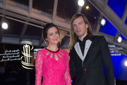 """Emmanuelle Boidron and Christophe Guillarme attends the """" Truman"""" premiere during the 5th Marrakech International Film Festival on December 9, 2015 in Marrakech, Morocco."""