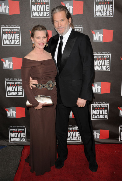 Actor Jeff Bridges and wife Susan Geston arrive at the 16th annual Critics' Choice Movie Awards at the Hollywood Palladium on January 14, 2011 in Los Angeles, California.