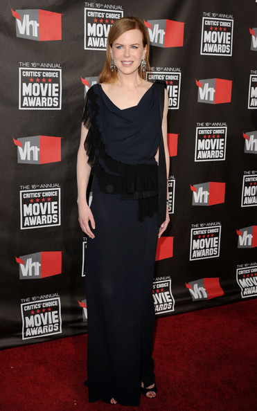 Actress Nicole Kidman arrives at the 16th annual Critics' Choice Movie Awards at the Hollywood Palladium on January 14, 2011 in Los Angeles, California.