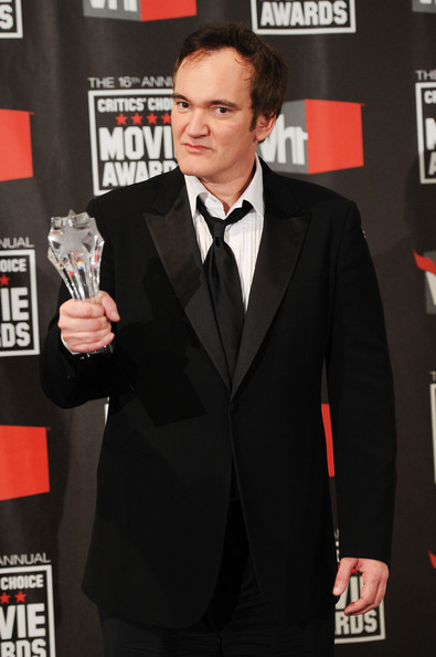 Writer/director Quentin Tarantino poses with the Music & Film Award in the press room during the 16th annual Critics' Choice Movie Awards at the Hollywood Palladium on January 14, 2011 in Los Angeles, California.