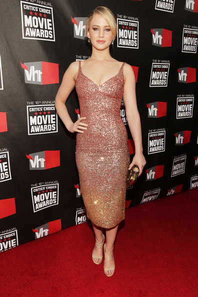 Actress Jennifer Lawrence arrives at the 16th annual Critics' Choice Movie Awards at the Hollywood Palladium on January 14, 2011 in Los Angeles, California.