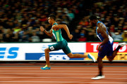 Wayde van Niekerk of South Africa reacts after competing in the Men's 200 metres semi finals during day six of the 16th IAAF World Athletics Championships London 2017 at The London Stadium on August 9, 2017 in London, United Kingdom.