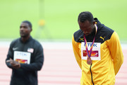 Usain Bolt of Jamaica poses with the bronze medal for the Men's 100 metres during day three of the 16th IAAF World Athletics Championships London 2017 at The London Stadium on August 6, 2017 in London, United Kingdom.