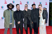 (L-R) DJ Jillionaire, singer J Balvin, producer Diplo, DJ Walshy Fire and MO attend the 16th Latin GRAMMY Awards at the MGM Grand Garden Arena on November 19, 2015 in Las Vegas, Nevada.