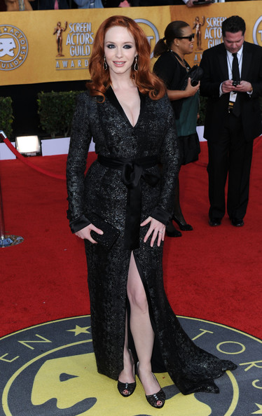 Actress Christina Hendricks arrives at the 17th Annual Screen Actors Guild Awards held at The Shrine Auditorium on January 30, 2011 in Los Angeles, California.