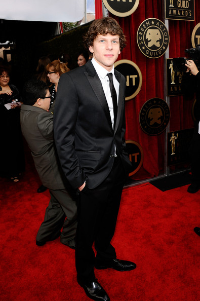 Actor Jesse Eisenberg arrives at the 17th Annual Screen Actors Guild Awards held at The Shrine Auditorium on January 30, 2011 in Los Angeles, California.