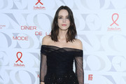 """Stacy Martin attends the 17th """"Diner De La Mode"""" as part of Paris Fashion Week on January 22, 2019 in Paris, France."""
