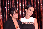 "Honorees Michelle Rodriguez (L) and Jordana Brewster accept the Hollywood Blockbuster Award for ""Furious 7"" onstage during the 19th Annual Hollywood Film Awards at The Beverly Hilton Hotel on November 1, 2015 in Beverly Hills, California."