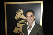 Jorge Drexler poses with the Best Singer-Songwriter Album award backstage at the Premiere Ceremony during the 19th Annual Latin GRAMMY Awards at MGM Grand Hotel & Casino on November 15, 2018 in Las Vegas, Nevada.