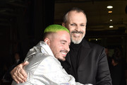 J Balvin (L) and Miguel Bose attend the 19th annual Latin GRAMMY Awards at MGM Grand Garden Arena on November 15, 2018 in Las Vegas, Nevada.