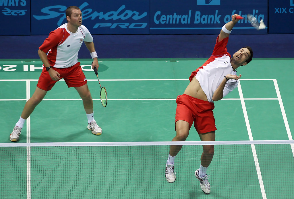 Anthony Clark Nathan Robertson Anthony Clark Photos 19th Commonwealth Games Day 11 Badminton Zimbio