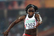 Yasmine Regis of England competes in the women's triple jump during day five of the Delhi 2010 Commonwealth Games at the Jawaharlal Nehru Stadium on October 8, 2010 in Delhi, India.