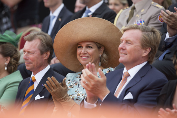 (L-R) King Philippe of Belgium, Queen Maxima of The Netherlands and King Willem-Alexander of the Netherlands attend celebrations marking the 200th anniversary of the kingdom of The Netherlands on August 30, 2014 in Maastricht, The Netherlands.