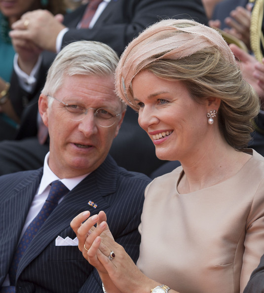 King Philippe of Belgium and Queen Mathilde of Belgium attend celebrations marking the 200th anniversary of the kingdom of The Netherlandson August 30, 2014 in Maastricht, The Netherlands.