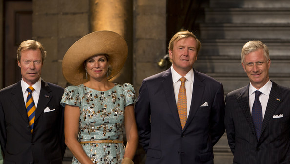 (L-R) Grand Duke Henri of Luxembourg, Queen Maxima of The Netherlands, King Willem-Alexander of The Netherlands and King Philippe of Belgium attend celebrations marking the 200th anniversary of the kingdom of The Netherlands on August 30, 2014 in Maastricht, The Netherlands.