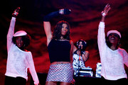 Sandy Denton of Salt N' Pepa preform during the 2009 Essence Music Festival at the Louisiana Superdome on July 3, 2009 in New Orleans.
