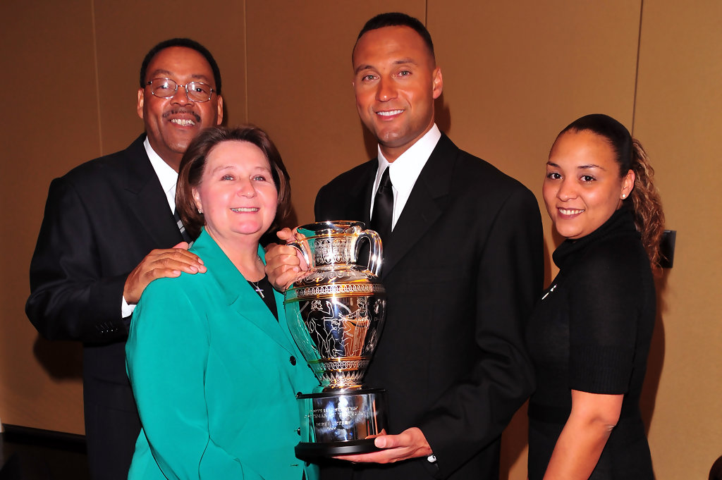 Photo of Derek Jeter & his  Mother  Dorothy Jeter