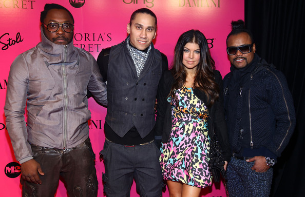 (L-R) will.i.am, Taboo, Fergie and apl.de.ap of the Black Eyed Peas attend the Victoria's Secret fashion show after party at M2 Ultra Lounge on November 19, 2009 in New York City.