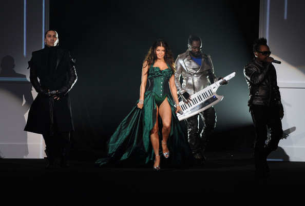 Taboo, Fergie, will.i.am and Apl.de.ap of The Black Eyed Peas perform at the Victoria's Secret fashion show at The Armory on November 19, 2009 in New York City.