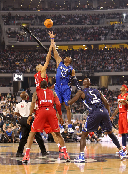 2010 NBA All Star Game. In This Photo: Amare Stoudemire, Carmelo Anthony,