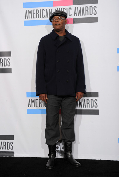 Actor Samuel L Jackson poses in the press room during the 2010 American Music Awards held at Nokia Theatre L.A. Live on November 21, 2010 in Los Angeles, California.