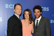 "The cast of ""How I Met Your Mother"" (L-R) Neil Patrick Harris, Cobie Smulders and Josh Radnor attend the 2010 CBS UpFront at Damrosch Park, Lincoln Center on May 19, 2010 in New York City."