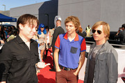 Kieran Culkin, Michael Cera and David Spade arrive at the 2010 MTV Movie Awards held at the Gibson Amphitheatre at Universal Studios  on June 6, 2010 in Universal City, California.