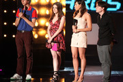 Michael Cera, Aubrey Plaza, Anna Kendrick, and Kieran Culkin onstage at the 2010 MTV Movie Awards held at the Gibson Amphitheatre at Universal Studios  on June 6, 2010 in Universal City, California.