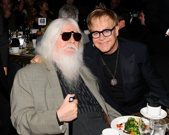 Musicians Leon Russell and Elton John attend the  2010 MusiCares Person Of The Year Tribute To Neil Young at the Los  Angeles Convention Center on January 29, 2010 in Los Angeles,  California