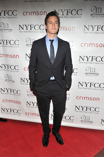 Actor Armie Hammer attends the 2010 New York Film Critics Circle Awards at Crimson on January 10, 2011 in New York City.