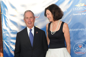 Michael Bloomberg Diana Taylor 2010 US Open Opening Night Ceremony - Arrivals