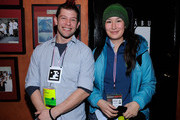 Artist Eric Gradman and actress Nive Nielsen attend the Press and Filmmakers Reception at Shabu during the 2010 Sundance Film Festival on January 27, 2010 in Park City, Utah.