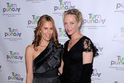 Cristina Greeven Cuomo and actress Uma Thurman attend the 2010 Turnaround For Children benefit dinner at The Plaza Hotel on April 13, 2010 in New York City.
