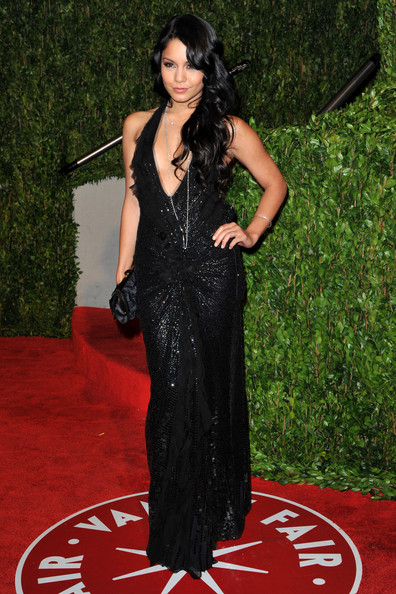 Actress Vanessa Hudgens arrives at the 2010 Vanity Fair Oscar Party hosted by Graydon Carter held at Sunset Tower on March 7, 2010 in West Hollywood, California.
