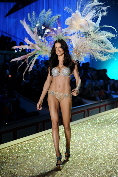 Model Adriana Lima wearing $2 million fantasy bra by Damiani walks the runway during the 2010 Victoria's Secret Fashion Show at the Lexington Avenue Armory on November 10, 2010 in New York City.