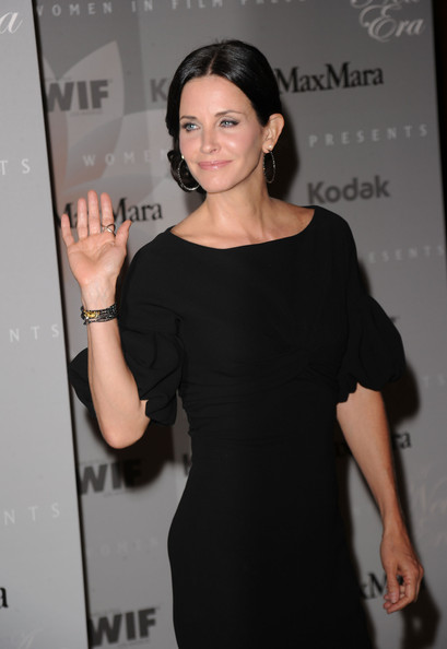 Actress Courteney Cox arrives at the 2010 Crystal + Lucy Awards: A New Era at Hyatt Regency Century Plaza on June 1, 2010 in Century City, California.