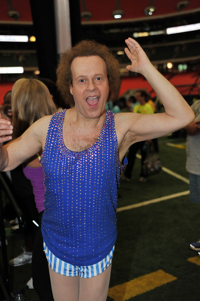 richard simmons photos photos 2010 world fitness day zimbio. Black Bedroom Furniture Sets. Home Design Ideas