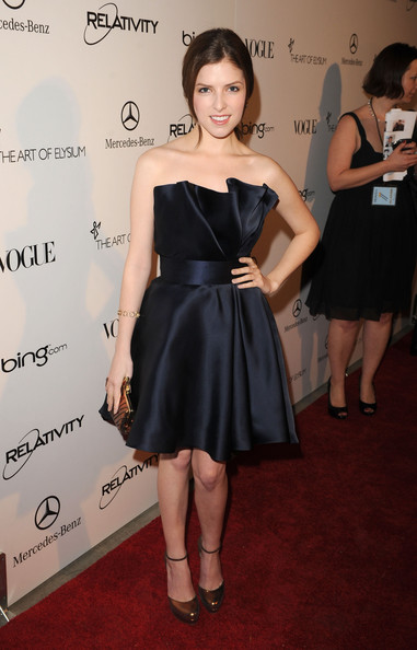 "Actress Anna Kendrick arrives at the 2011 Art Of Elysium ""Heaven"" Gala held at the California Science Center on January 15, 2011 in Los Angeles, California."