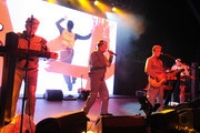"""Musician Mark Mothersbaugh and DEVO perform onstage at the 2011 Art Of Elysium """"Heaven"""" Gala held at the California Science Center on January 15, 2011 in Los Angeles, California."""