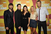 (L-R) Musicians Dave Haywood, Chris Tyrrell, Hillary Scott, Cassie McConnell, and Charles Kelley attend the 2011 CMT Music Awards at the Bridgestone Arena on June 8, 2011 in Nashville, Tennessee.